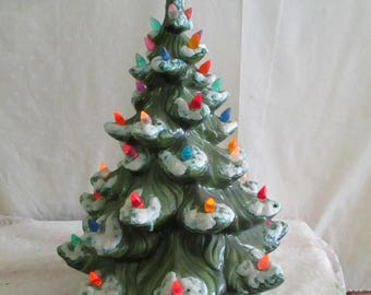 Ceramic Christmas Tree Lighted 17 Inches tall