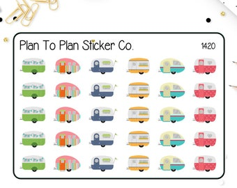 1420~~Camping/Glamping Road Trip Planner Stickers.