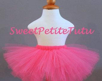 Hot Pink tutu, pink tutu,  Preemie, Newborn to 14/16 teen, Bright Pink Tutu, Baby Tutu, Birthday Tutu, Dark pink tutu, girls tutu
