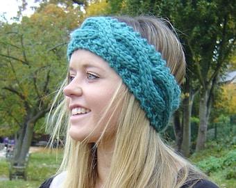 KNITTING PATTERN Cable Headband Ear Warmer Easy Beginner Knit Headband Instant Delivery Digital File PDF
