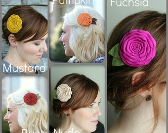 Flower Hair Clip for Bridesmaids, Adults and Girls
