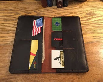 Leather Long Wallet, Checkbook wallet,
