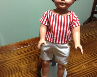 "18"" doll clothes shorts and top"