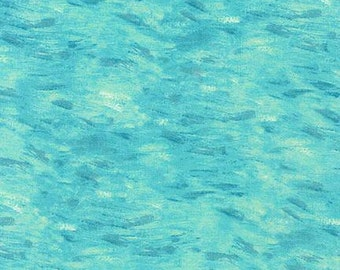 Vincent Van Gogh Water Aqua Kaufman Fabric 1 yard