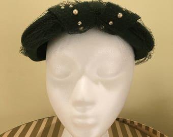 1940s Glenover Green Hat