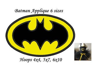 Batman Applique Design - 6 sizes Instant Download