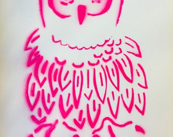Spray Painted Owl Print