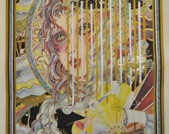 "Melanie Taylor Kent ""Carousel Fantasia"" Hand Signed Serigraph 134/200 Limited International Edition 1979 Print"