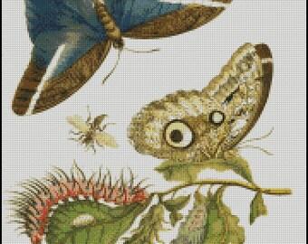 BUTTERFLIES cross stitch pattern No.637