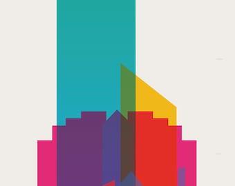 Shapes of Edmonton art print
