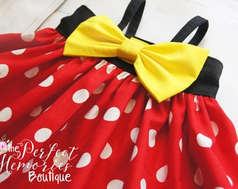 Classic Minnie Mouse Dress | Minnie Birthday Party | Girls Dress | Disney World | Birthday Dress | Disney Vacation | Disney Dress