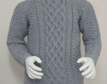 pdf pattern for the Lattice Cable Sweater for Men and Boys by Elizabeth Lovick