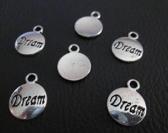 5 charm symbol dream 16 x 12 mm metal silver