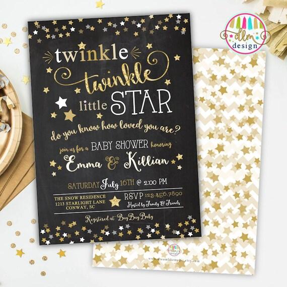 Twinkle twinkle little star baby shower invitation gender filmwisefo