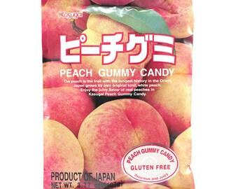 Kasugai Peach Gummy Candy.  Gluten Free.
