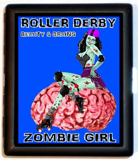 Roller derby zombie pinup cigarette case zombie pin up girl like this item colourmoves