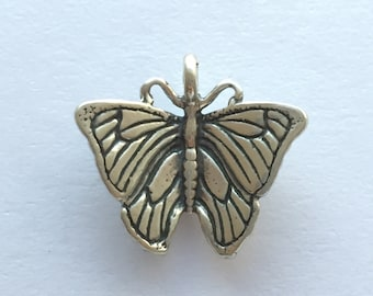 Sterling Silver Butterfly Charm 16x13mm