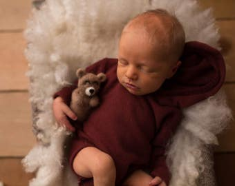 Felted Bear // Newborn Photography Prop