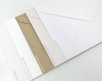 "5x7""/A7 Invitation Envelopes in Felt 130mmX185mm Made in Australia"