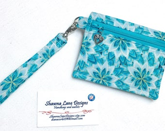 zipper pouch, coin purse, keychain with wristlet strap, keyfob, debit card keeper, money pouch, lip balm holder, affordable gift all ages