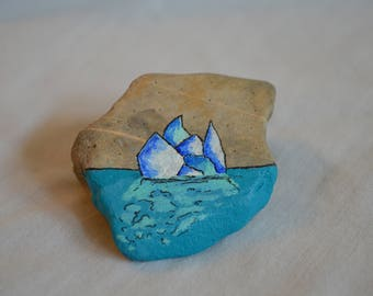 Custom Painted Rock Paperweight