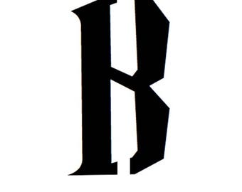 Letter B Stencil Made from 4 Ply Mat Board-Wizard Font
