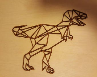 Geometric T-Rex Dinosaur 3mm MDF blank  various sizes