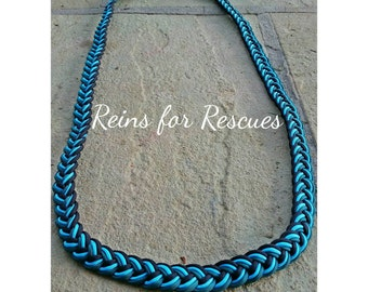 Teal, Turquoise & Black Neck Rope