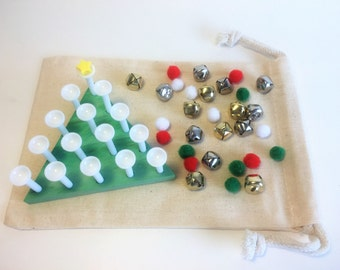 Tree Decorating, Toddler Busy Bag, Montessori Toddler, Christmas Tree, Holiday Game, Christmas Toy, Kids Gift, Toddler Toy, Toddler Gift Toy