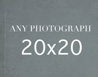 20x20 Photography Print, Large Wall Art