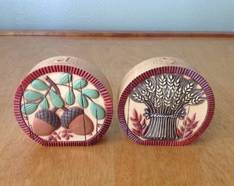 Fall Salt and Pepper Shaker Wheat and Acorn Design from Hallmark