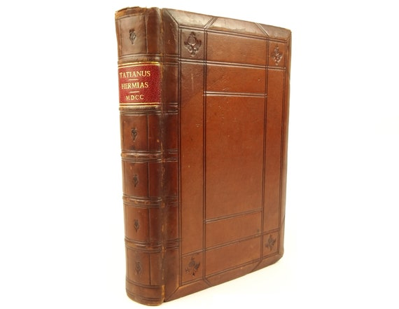 1700 Oratio ad Graecos, Tatian. Polyglot (Greek & Latin). Oxford, Theatre Sheldonian.