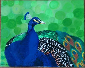 Mr. Peacock II - Acrylic on Canvas