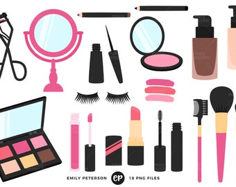 Makeup Clip Art, Beauty Clipart, Girly Clip Art - Commercial Use, Instant Download