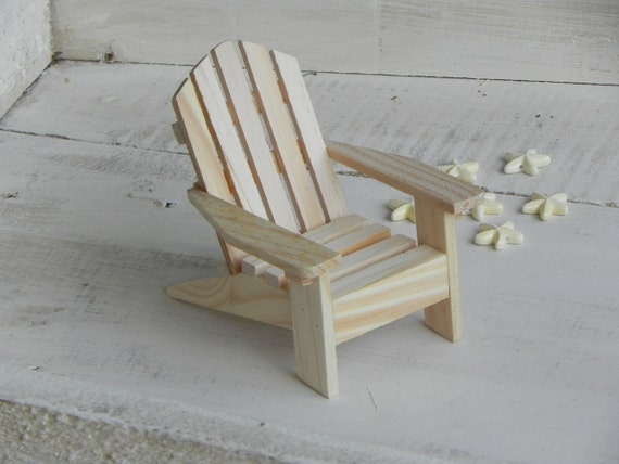 Adirondack Chair Miniature Ready To Paint Wood Supplies For Craft Project  Beach Wedding Cake Topper Starfish Beads Embellishments Supply From ...