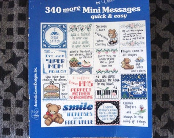 JEANNETTE CREWS Designs Inc 340 More Mini Messages By Dale Burdett  Needle Point Patterns Issue DB-7140.
