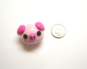 Cute Kawaii Pig Magnet, Pudgy Piggy, Pink Pig Magnet, Polymer Clay Charm, Polymer Clay, Farm Animal, Piggy Magnet, Refrigerator Magnet