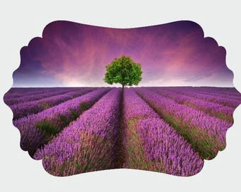 Lavender Garden UV Printed MDF Wall Decor, Wood Decor