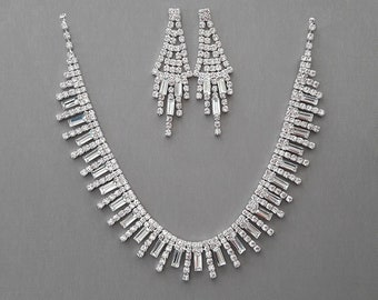 Icicle Rhinestone Jewelry Set