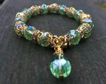 Sage Rain Drop Bracelet