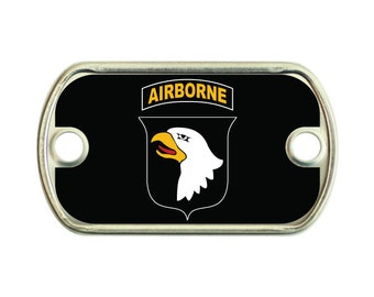 Airborne 2 Holes Stainless Steel Mini Dog Tag For Paracord Bracelets