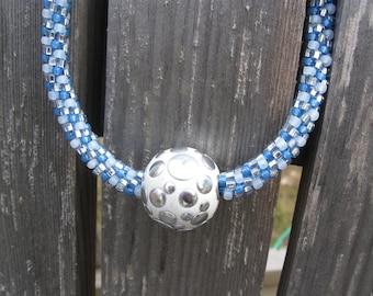 Haute Bleu Kumihimo Necklace