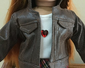 Faux Leather Doll Jacket