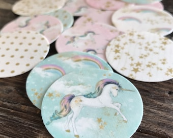Unicorn Edible Frosting Images for Cupcakes Oreos Cookies and More