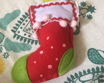 Red Felt Stocking Ornament