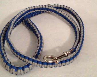 2, 4 or 6-ft Paracord Leash - Blue and Grey