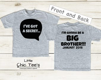 Announcement For Big Brother Shirt, announcing big brother shirt, grey brother shirt, Big Brother Shirt Announcement, Big Brother Clothes