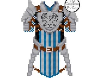 Dragon Age Grey Warden Armor Cross Stitch Pattern