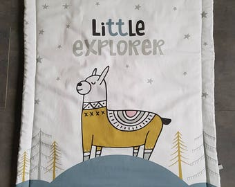 Llama baby blanket - little Explorer management