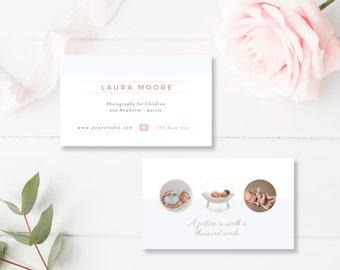 Newborn Photographer Business Card Template, Business Card Templates for Photographers, Modern Calling Card - INSTANT DOWNLOAD